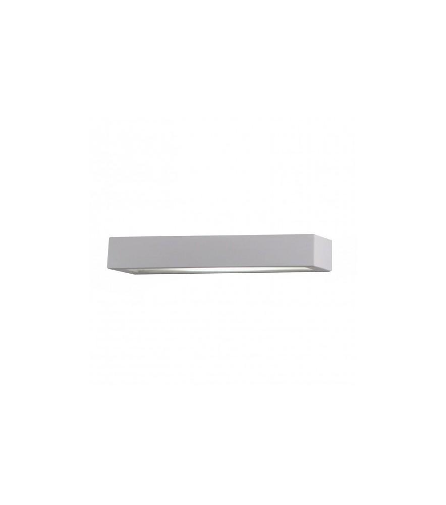 Effetto 36cm Bianco Verniciabile 2 Rettangolare Applique Luci Gesso ZikPXu